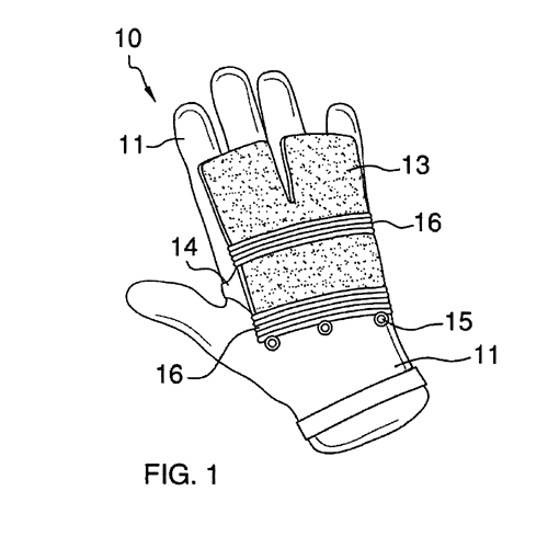 GLOVES HAVING SNAP-ON CLEANING PAD